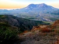 Mount St Helens at sunrise